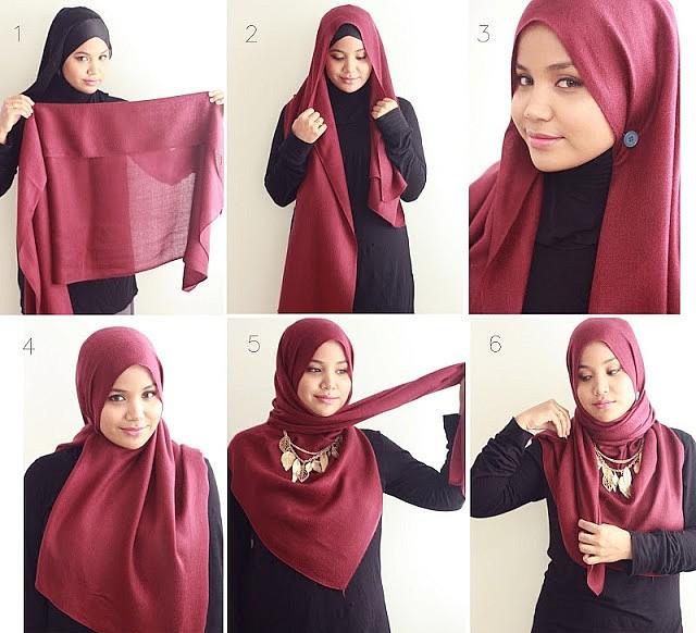 как красиво надеть хиджаб фото